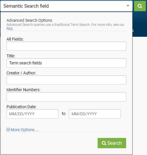 Figure 271836: Semantic Search field