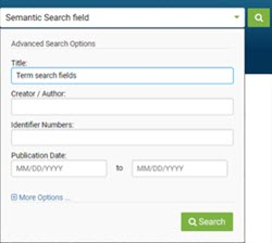 Semantic Search field